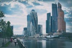 ΜΟΣΧΑ, ΡΩΣΙΑ - 14 Ιουνίου 2016: Ουρανοξύστες πόλεων της Μόσχας Στοκ Εικόνα