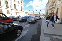ΜΟΣΧΑ, ΡΩΣΙΑ - ΜΠΟΡΕΣΤΕ, 13 ΤΟ 2017: Οδός Mokhovaya στο Κρεμλίνο στο MOS Στοκ εικόνες με δικαίωμα ελεύθερης χρήσης