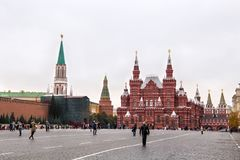 ΜΟΣΧΑ, ΡΩΣΙΑ - 6 ΟΚΤΩΒΡΊΟΥ 2016: Το κρατικό ιστορικό μουσείο της Ρωσίας στην κόκκινη πλατεία στη Μόσχα Στοκ φωτογραφίες με δικαίωμα ελεύθερης χρήσης