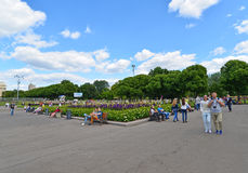 ΜΟΣΧΑ, ΡΩΣΙΑ - 26 06 2015 Πάρκο του Γκόρκυ - κεντρικό Στοκ εικόνες με δικαίωμα ελεύθερης χρήσης