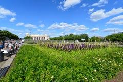 ΜΟΣΧΑ, ΡΩΣΙΑ - 26 06 2015 Πάρκο του Γκόρκυ - κεντρικό Στοκ εικόνα με δικαίωμα ελεύθερης χρήσης
