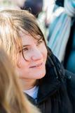 Κατερίνα Samutsevich, μέλος της ταραχής γατών, συζητήσεις στα ενεργά στελέχη ο Στοκ εικόνα με δικαίωμα ελεύθερης χρήσης
