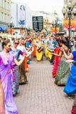 Μέλη Krishna λαγών σε παλαιό Arbat στοκ φωτογραφία με δικαίωμα ελεύθερης χρήσης