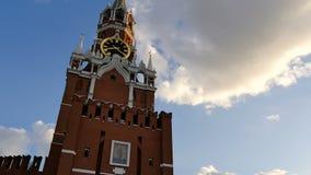 ΜΟΣΧΑ, ΡΩΣΙΑ, ΣΤΙΣ 23 ΙΟΥΝΊΟΥ 2016: Πύργος Spassky του Κρεμλίνου κόκκινο τετράγωνο απόθεμα βίντεο