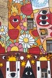 ΜΟΣΧΑ, ΡΩΣΙΑ: Τοίχος γκράφιτι Στοκ φωτογραφίες με δικαίωμα ελεύθερης χρήσης