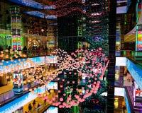 ΜΟΣΧΑ, ΡΩΣΙΑ, ΤΟΝ ΙΑΝΟΥΆΡΙΟ ΤΟΥ 2019: Ευρωπαϊκές αγορές εμπορικών κέντρων της Μόσχας, διακοπές, σχέδιο του νέου έτους του κέντρου στοκ φωτογραφίες