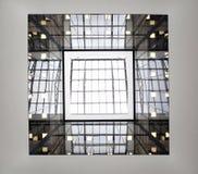 Τετραγωνικό παράθυρο στο ανώτατο όριο σε Sheremetyevo Στοκ Φωτογραφίες