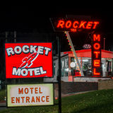 Μοτέλ πυραύλων στην πόλη Custer στοκ φωτογραφία