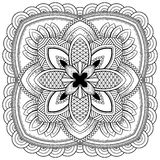 Μοτίβα Mandala λουλουδιών διακοσμητικός τρύγος στ&o Ασιατικό σχέδιο, διανυσματική απεικόνιση Χρωματίζοντας σελίδα βιβλίων Στοκ φωτογραφίες με δικαίωμα ελεύθερης χρήσης