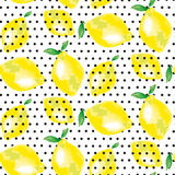 Μοτίβο λεμονιών ζωηρό πίσω σκηνικό μόδας έννοιας Στοκ φωτογραφίες με δικαίωμα ελεύθερης χρήσης