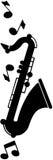 Μοτίβο Saxophone Στοκ φωτογραφία με δικαίωμα ελεύθερης χρήσης