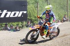 Μοτοκρός MXGP Trentino 2015 ΙΤΑΛΊΑ Antonio Tony Cairoli #222 Στοκ Φωτογραφίες