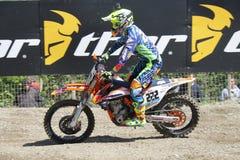 Μοτοκρός MXGP Trentino 2015 Antonio Tony Cairoli #222 Στοκ φωτογραφίες με δικαίωμα ελεύθερης χρήσης