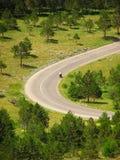 μοτοσικλέτα κάμψεων στοκ φωτογραφία