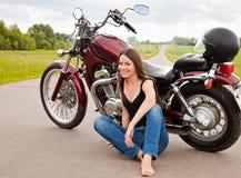 μοτοσικλέτα κοριτσιών π&omicr στοκ εικόνες