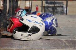 μοτοσικλέτα κρανών Στοκ Εικόνα