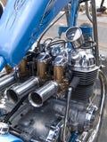 μοτοσικλέτα μηχανών λεπτ&omi Στοκ Εικόνα