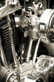 μοτοσικλέτα μηχανών Στοκ Φωτογραφία