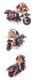 μοτοσικλέτα ξύλινη Στοκ Εικόνα