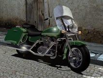 μοτοσικλέτα που αποκα&the διανυσματική απεικόνιση