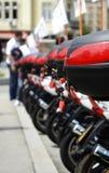 Μοτοσικλέτα στη σειρά στοκ εικόνα