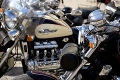 μοτοσικλέτα χρωμίου Στοκ εικόνες με δικαίωμα ελεύθερης χρήσης