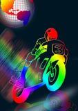μοτοσικλέτα χρώματος Διανυσματική απεικόνιση