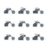 Μοτοσικλέτα μπαλτάδων απεικόνιση αποθεμάτων