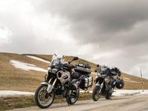 μοτοσικλέτα που σταθμεύουν Στοκ φωτογραφία με δικαίωμα ελεύθερης χρήσης