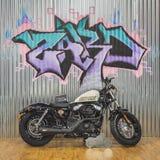 Μοτοσικλέτα του Harley Davidson σε EICMA 2014 στο Μιλάνο, Ιταλία Στοκ εικόνα με δικαίωμα ελεύθερης χρήσης