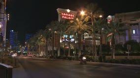 Μοτοσικλέτα Las Vegas Strip απόθεμα βίντεο