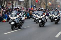 Μοτοσικλέτες αστυνομίας Στοκ Εικόνες