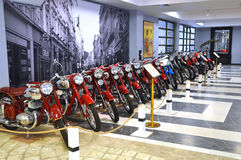 Μοτοσικλέτες ` Ιάβα ` στο μουσείο της τεχνολογίας Vadim Zadorozhny Arkhangelskoe, περιοχή της Μόσχας, της Ρωσίας Στοκ Φωτογραφία