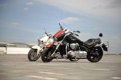μοτοσικλέτες δύο Στοκ Φωτογραφίες
