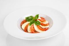 Μοτσαρέλα με τις ντομάτες Στοκ εικόνα με δικαίωμα ελεύθερης χρήσης