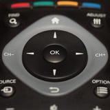 μουγγός εστίασης ελέγχου κινηματογραφήσεων σε πρώτο πλάνο κουμπιών απομακρυσμένος στοκ φωτογραφίες