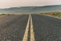 Μουντός δρόμος μέσω της κοιλάδας του Lamar στοκ εικόνα με δικαίωμα ελεύθερης χρήσης