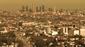 Μουντός ορίζοντας του Λος Άντζελες (HD) απόθεμα βίντεο