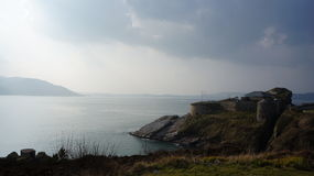 Μουσείο και η λίμνη Swilly, κομητεία Donegal, Ιρλανδία Dunree οχυρών Στοκ Εικόνες