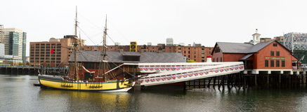 Μουσείο Κόμματος τσαγιού στη Βοστώνη Μασαχουσέτη Στοκ Εικόνες