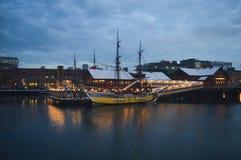 Μουσείο κόμματος τσαγιού της Βοστώνης στη Βοστώνη, ΗΠΑ στις 11 Δεκεμβρίου 2016 Στοκ Εικόνα