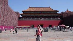 Μουσείο παλατιών στην ημέρα Wumen HD απόθεμα βίντεο