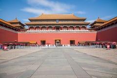 Μουσείο παλατιών του Πεκίνου, μεσημβρινή πύλη Στοκ φωτογραφία με δικαίωμα ελεύθερης χρήσης