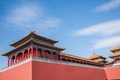 Μουσείο παλατιών του Πεκίνου, μεσημβρινή πύλη Στοκ Φωτογραφίες