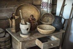 Μουσείο σπιτιών, η ιστορική ρωσική καλύβα στο οποίο ήταν γεννημένο Chapaev Στοκ Φωτογραφίες