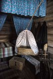 Μουσείο σπιτιών, η ιστορική ρωσική καλύβα στο οποίο ήταν γεννημένο Chapaev Στοκ Εικόνες