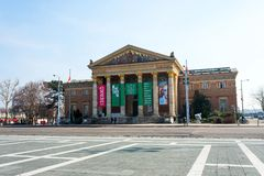 Μουσείο Τέχνης στη Βουδαπέστη στην Ουγγαρία, Ευρώπη, 2018 στοκ εικόνες