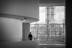 Μουσείο Τέχνης Aros - εσωτερική επίσκεψη Στοκ φωτογραφίες με δικαίωμα ελεύθερης χρήσης