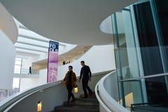 Μουσείο Τέχνης Aros - εσωτερικό σπειροειδές κλιμακοστάσιο, 2 Στοκ Εικόνες