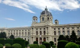 Μουσείο της φυσικής ιστορίας, ιστορία Μουσείων Τέχνης, Βιέννη, Αυστρία στοκ εικόνα